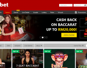 10% Cash Back on Baccarat  up to RM20,000!