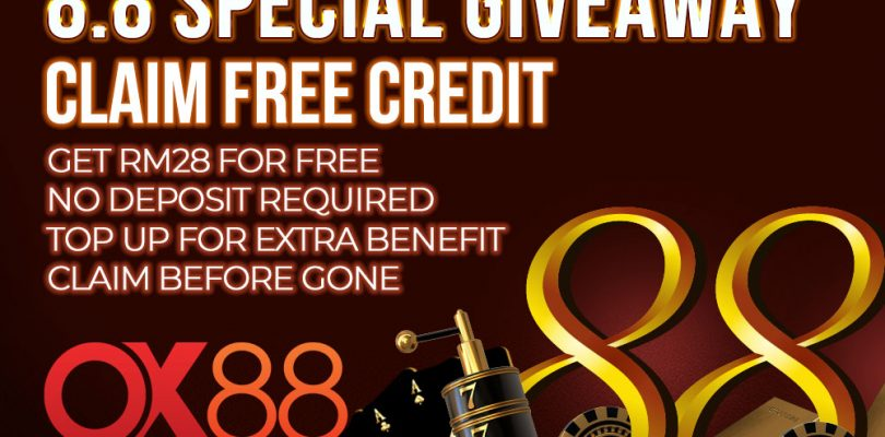 OX88 Giveaway, Claim RM28 No Deposit